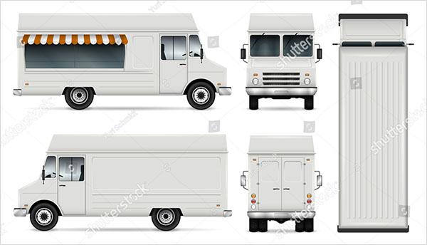 Food Truck Vector Template