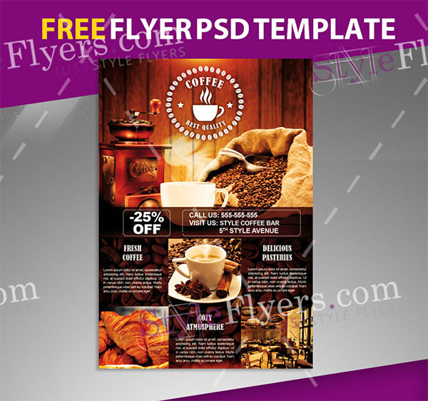 Flyer psd cafe 49+ Cafe