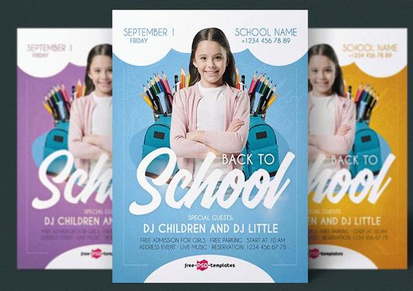 Free Download Kids School Flyer Template