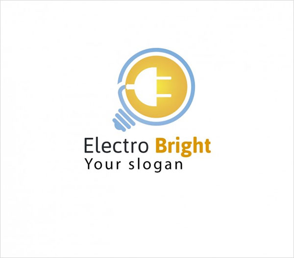 Free Electric Bright Logo Template