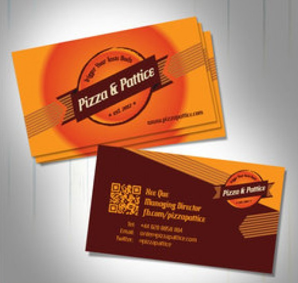 Free Fast Food Business Card Template