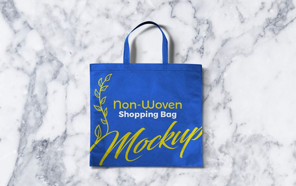 Free Non-Woven Shopping Bag Mockup PSD Design Template