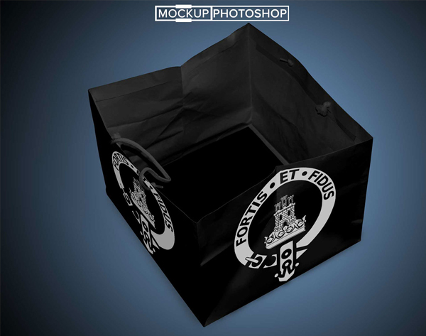 Free PSD Black Shopping Bag Mockups