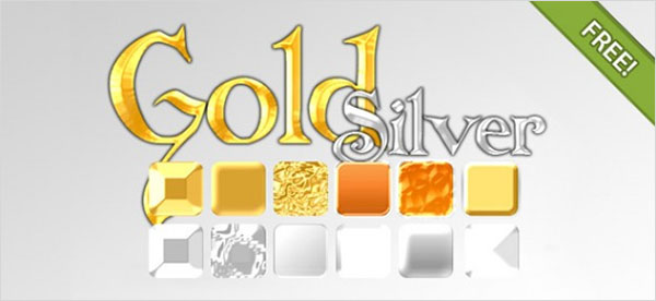 Free PSD Gold & Silver Effect Styles