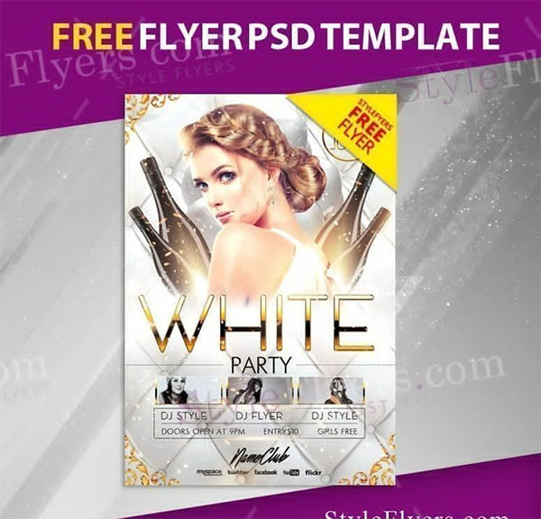 Free PSD White Party Flyer Template