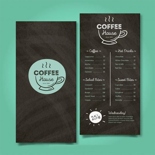 Free PSD Coffee Menu Template