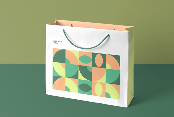 Free Paper Shopping Bag Mockup Photoshop Template