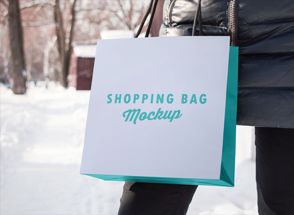 Free Paper Shopping Bag Photo Mockup