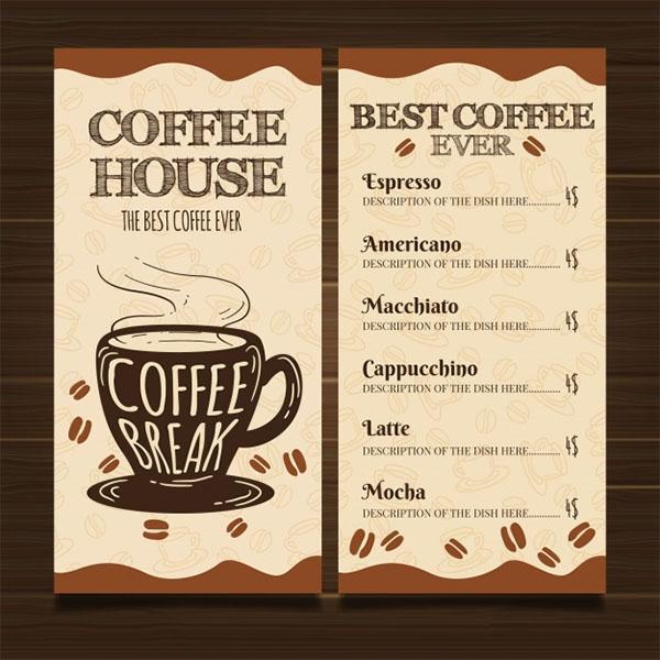 Free Restaurant Coffee Menu Template