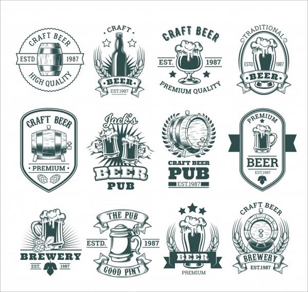Free Retro Beer Label Design Templates