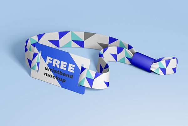 Free Wristband Mockup