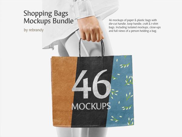 Free PSD Shopping Bag Mockups Bundl
