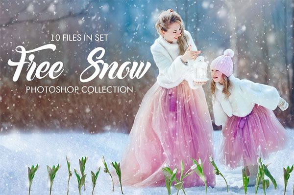 Free Snow Overlay for Photoshop