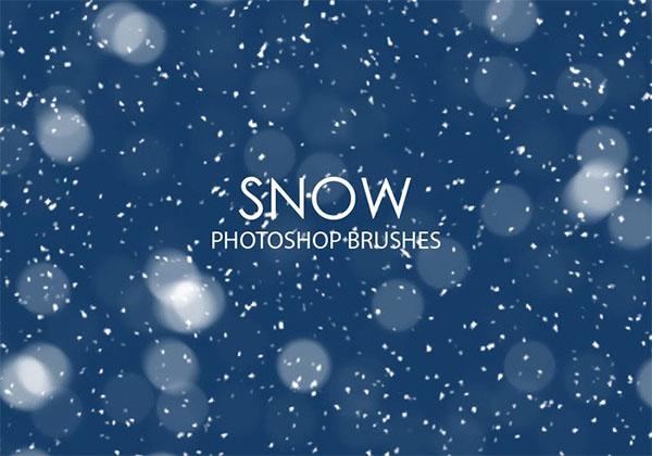 Free Snow Photoshop Brushes