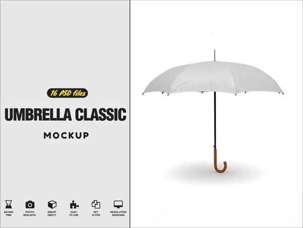 Free Umbrella Classic Mockup