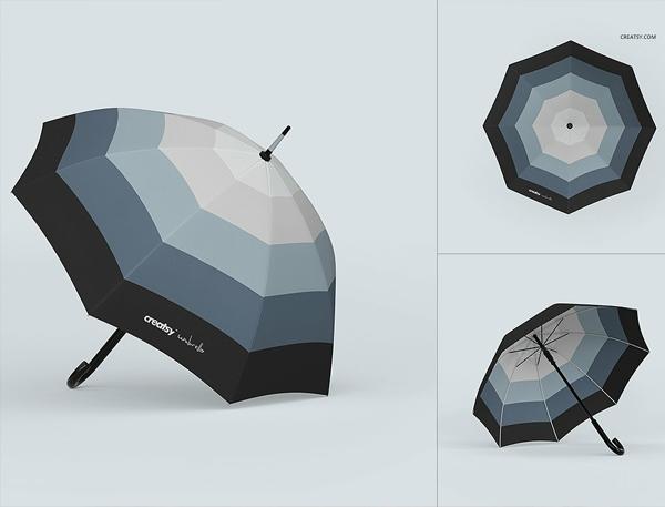 Free Umbrella Mockups Set