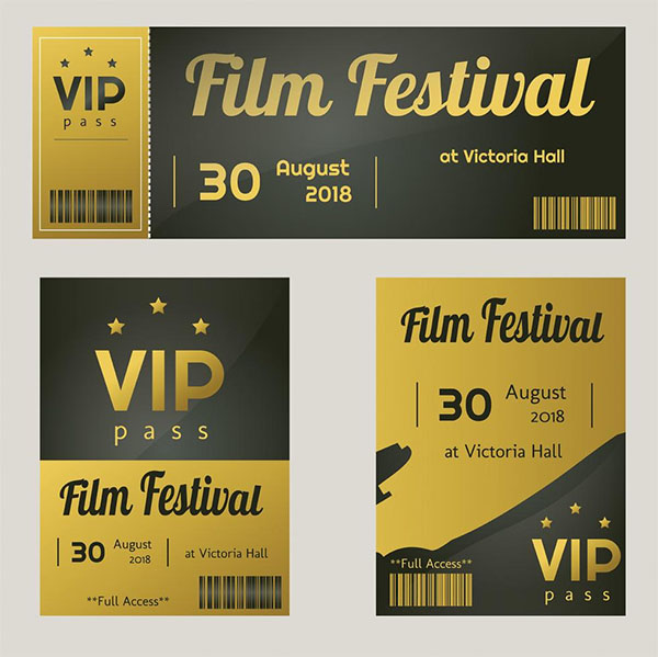 Free VIP Access Template Vector Pack