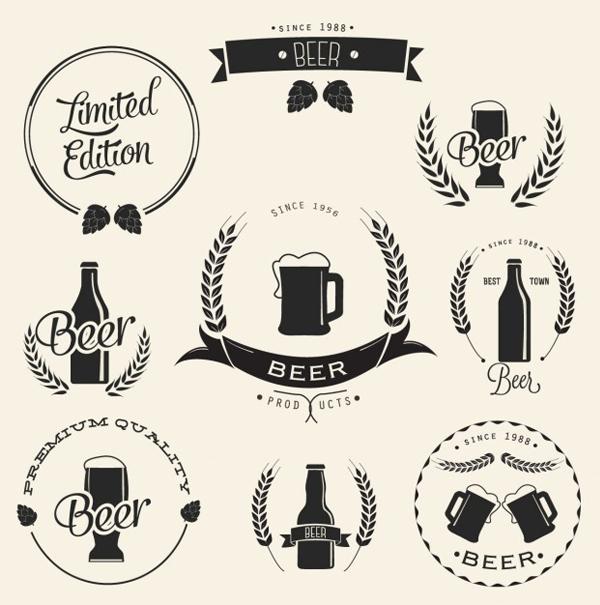 Free Vector Beer Label Designs