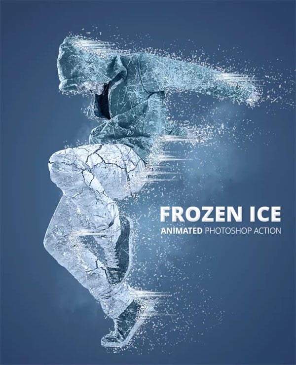 Frozen Ice Gif Animated Photoshop Action