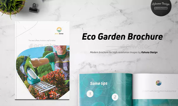 Gardening Brochure and Magazine in Indesign Template