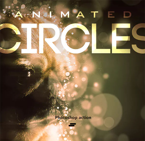 Gif Animated Circles Photoshop Action