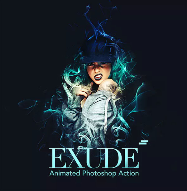 Gif Animated Exude Photoshop Action