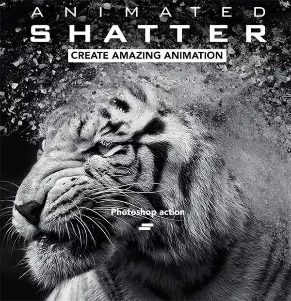 Gif Animated Shatter Photoshop Action