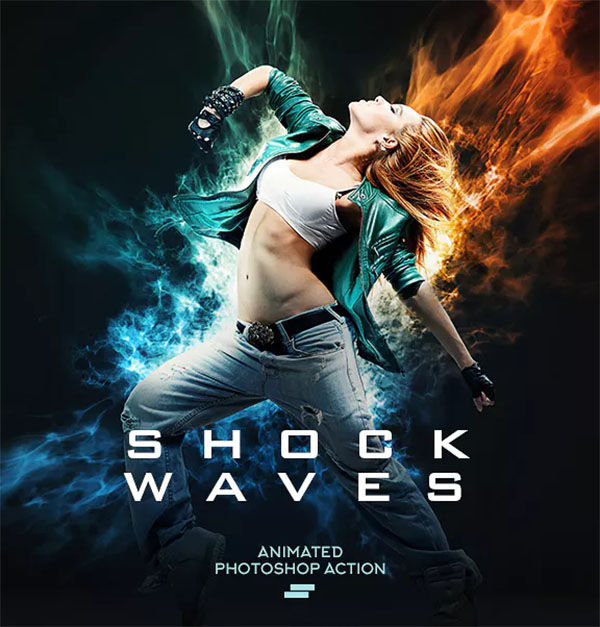 Gif Animated Shockwave Photoshop Action