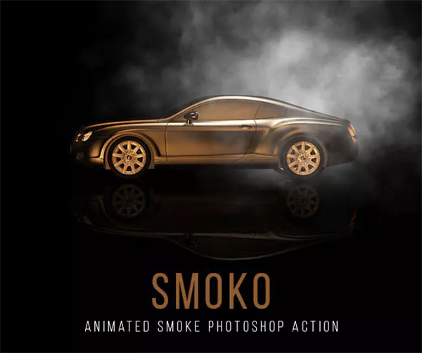 Gif Animated Smoko Photoshop Action