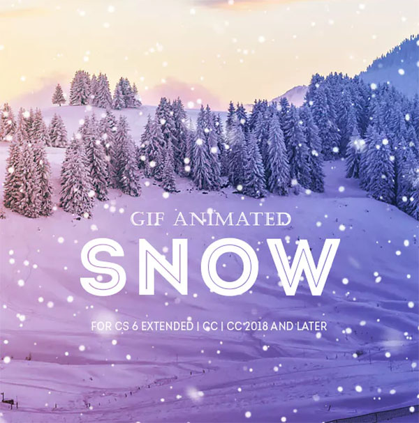 Gif Animated Snow Photoshop Action