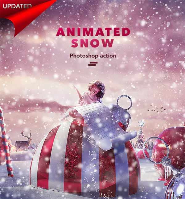 Gif Animated Snow Photoshop Actions