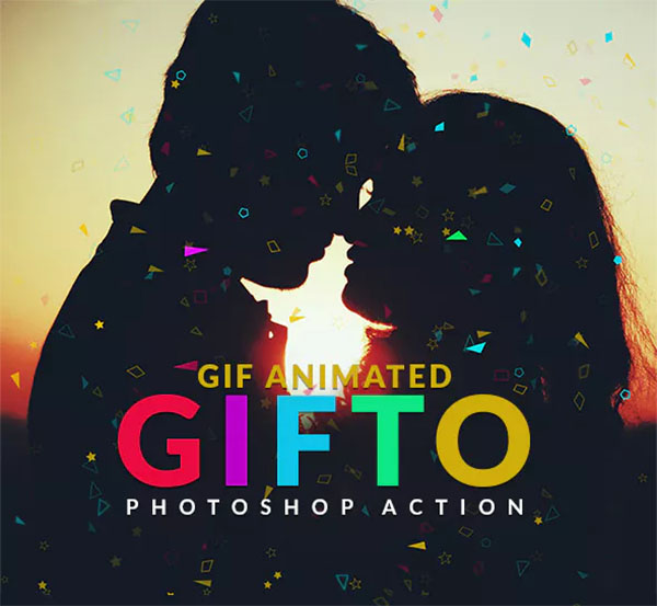 Gifto Gif Animated Photoshop Action