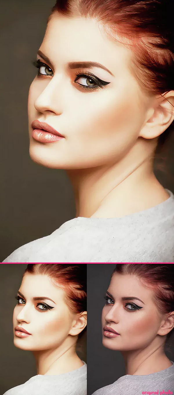 Glamour Skin Retouch Photoshop Action
