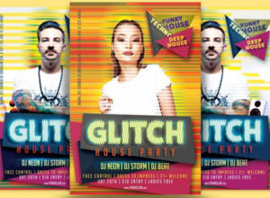 Glitch Flyer Templates