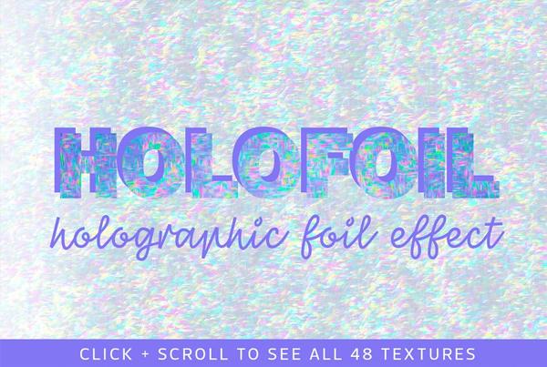 Glitch Holographic Foil Textures