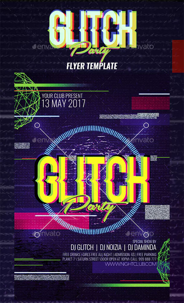 18+ Glitch Flyer Templates - Free & Premium PSD Vector PDF