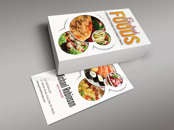 Go Fresh Food Business Card