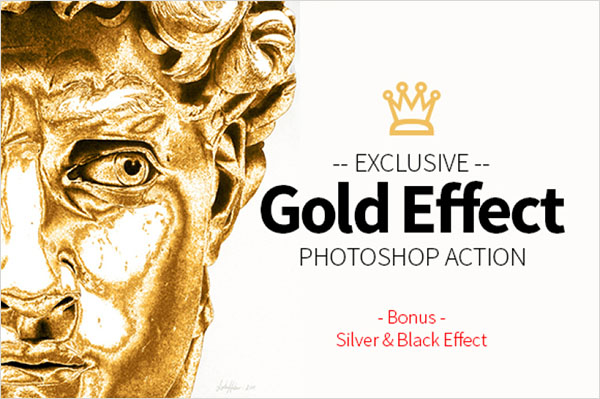 Gold Effect Photoshop Action Template