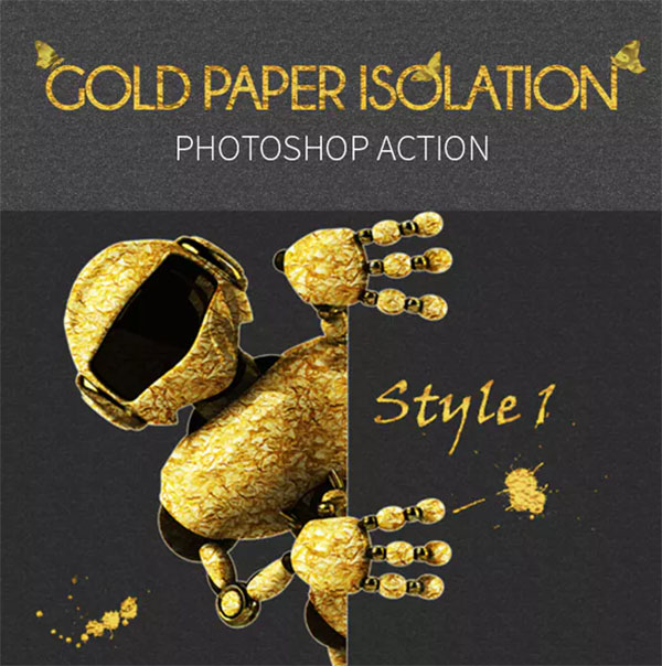 Gold Paper Isolation Photoshop Action