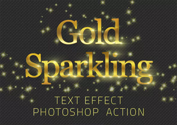 Gold Sparkling Text Effect Action