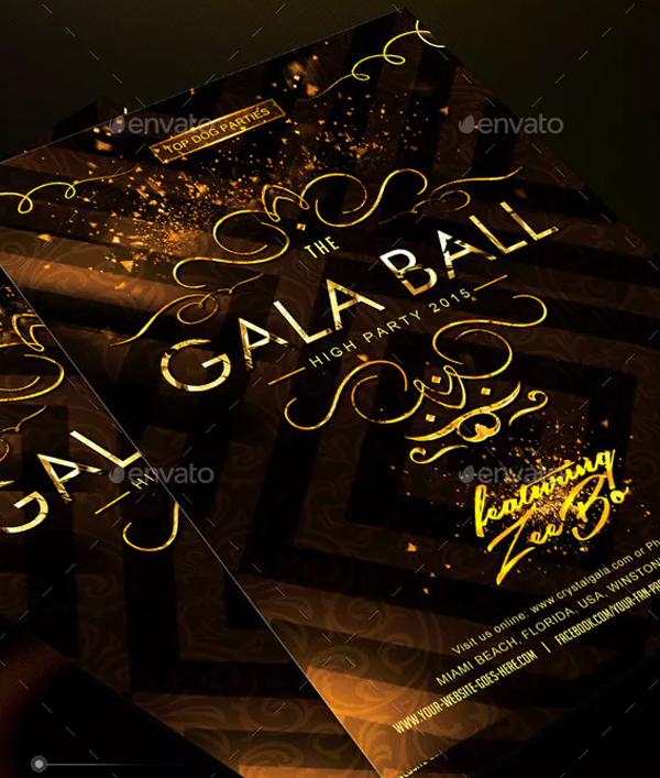 Golden Gala Deluxe Party Tickets Bundle