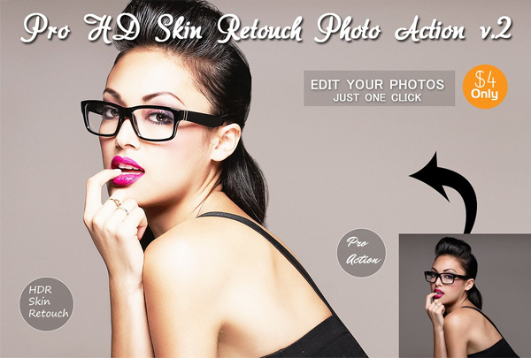 HD Skin Retouch Photo Action