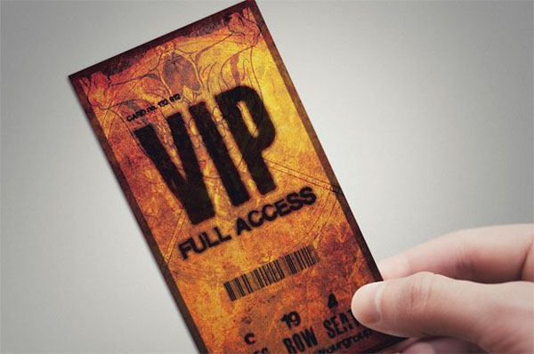 Halloween VIP Pass Card Template