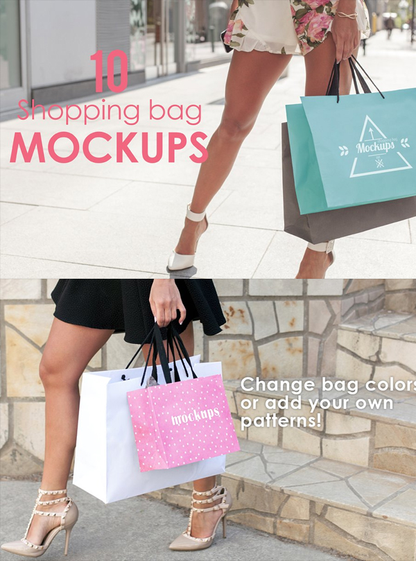 High Quality Shopping Bag Mockups