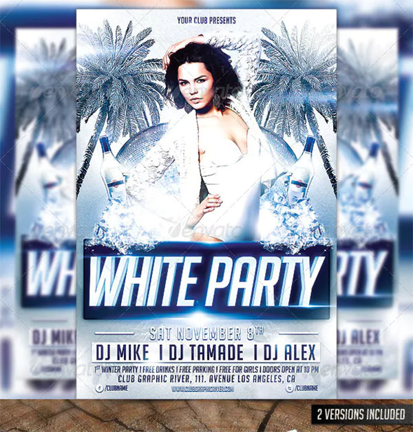 Hot White Party Flyer Template