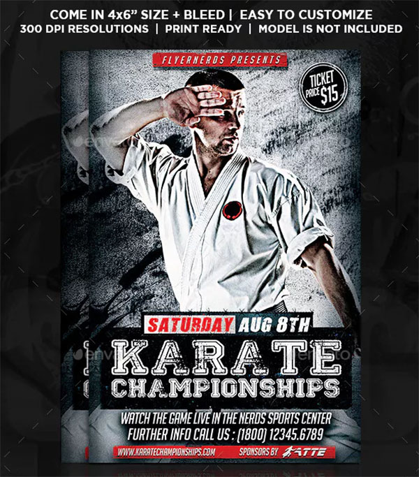 Karate Championships Sports Flyer