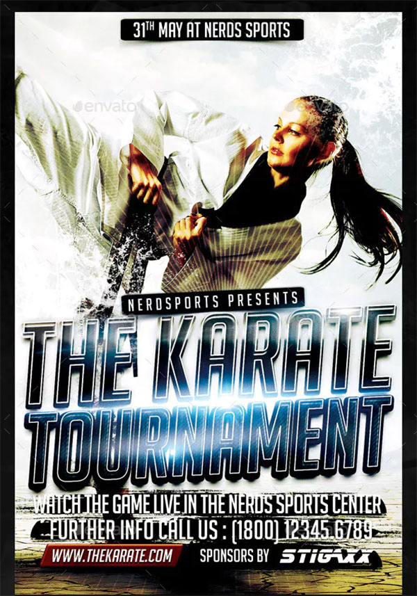 Karate Tournament Sports Flyer