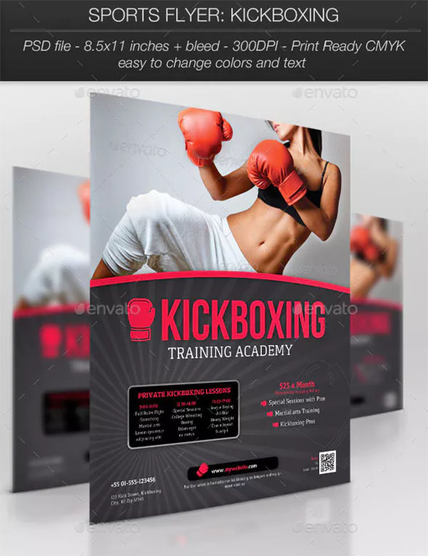 Kickboxing Sports Flyer