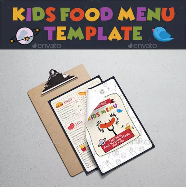 Kids Food Menu Template