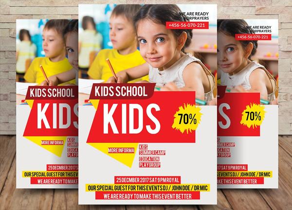 Kids School Flyer Design